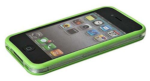Film de protection d'écran pour Apple iPhone 4 / 4S /4G - Transparent Bumper Frame - Vert