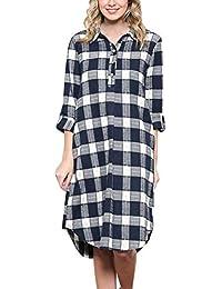 Amazon.it  quadro - Blu   Vestiti   Donna  Abbigliamento c3b4ee096c0