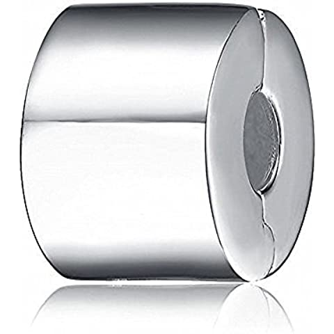 Shiny Silver clip fascini branello-925 d'argento - Fascini Del Cuore Di Vetro