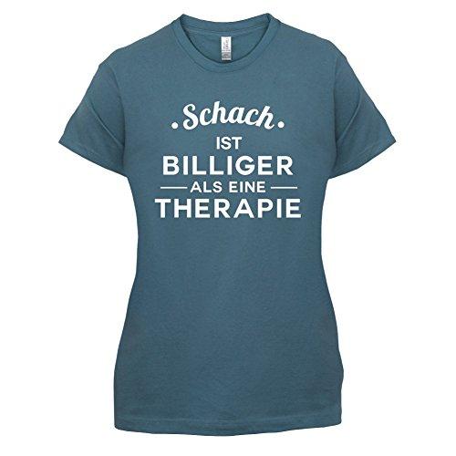 Schach ist billiger als eine Therapie - Damen T-Shirt - 14 Farben Indigoblau