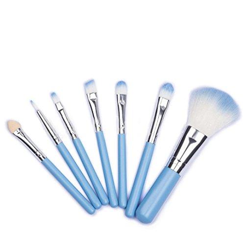 Maquillage Brosse, Kingwo 7Pcs Eye-liner Lèvre Poudre Pinceau cosmétique (Bleu)