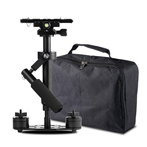 """LESHP Handheld Kamera Stabilisator, Handvideokamera Stabilisator mit Schnellwechselplatte 1/4 """"Schraube für Kamera Video DV DSLR Nikon Canon, Sony, Panasonic (Schwarz, S-40)"""