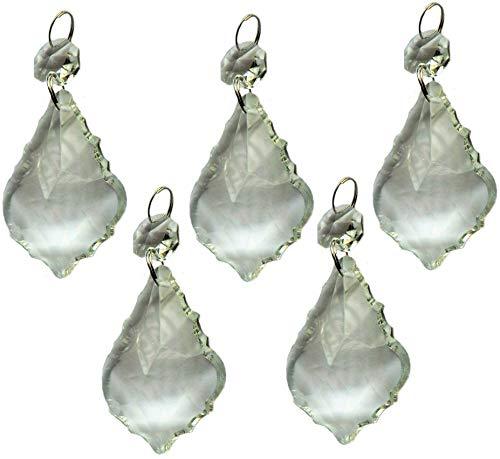 Durchsichtige Kronleuchter-Tropfen , 5 Stück, große Auswahl an Formen, transparente Tröpfchen , geschnittene Glaskristall-Perlen , Weihnachtsbaum-Ornamente , Vintage, Hochzeiten, Wunschdekorationen