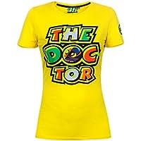 Valentino Rossi VR46 Moto GP The Doctor Mujer Amarillo Camiseta Oficial 2017