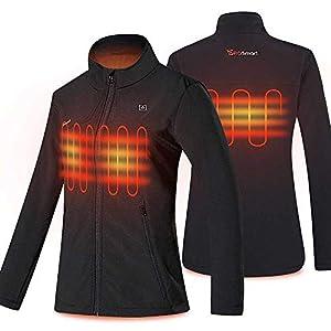 PROSmart Beheizbare Jacke für Damen wasserdichte Beheizte Jacke mit Akku