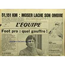 EQUIPE (L') [No 11727] du 24/01/1984 - MOSER - FOOT PRO - LE GOUFFRE - LACOMBE - AUTOMOBILE - LES AUDI QUATTRO A LA FETE - CYCLISME - COLOMBIE.