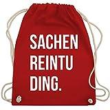 Shirtracer Festival Turnbeutel - Sachenreintuding - Unisize - Rot - WM110 - Turnbeutel und Stoffbeutel aus Bio-Baumwolle