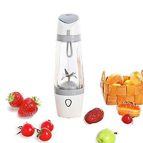 SZJJI Licuadora de jugos portátil: batidora de vacío USB/mezcladora de Hielo para Frutas Personal Trituradora de Vasos/coctelera de proteínas con baterías de 3000mAh, 200 vatios / 22,000 RPM,Gray