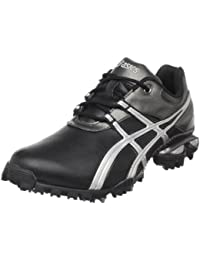 Zapatillas de golf GEL-Linksmaster para hombre, Negro / Plateado / Gris metalico, 8.5 M