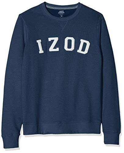 IZOD Herren Logo Crew Sweatshirt Blau (Club Blue 432) Large (Herstellergröße: LG) - American Heritage Sweatshirt