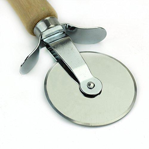 In acciaio INOX con manico in legno, rotella taglia pizza pasticceria pasta pasta Piegatore