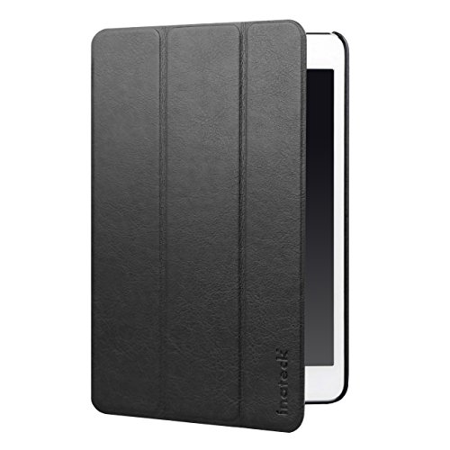 Inateck iPad Mini Hülle – Ultra Slim Smart Case Lederhülle mit magnetischer Auto Sleep Wake-up Funktion für Apple iPad Mini alle Module iPad Mini 1/2/3, Schwarz