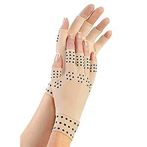 Aquarius Magnetische Therapie Arthritische Kompressionshandschuhe, Verbesserung der Blutkreislauf und Heilung, Linderung der Symptome von Arthritis, Linderung Gelenkschmerzen, reduzieren Entzündungen, bieten zusätzliche Unterstützung für schwache Gelenke