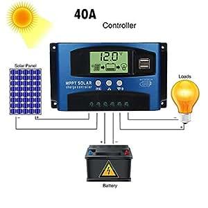 MMLC 40/50/60 / 100A Solar Panel Regler Laderegler 12 V / 24 V Autofokus Tracking Solar Panels Battery Charge Controller (A)