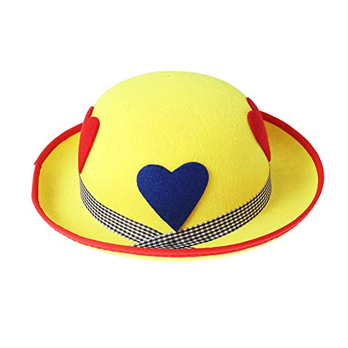 Xsj Niedliche Bequeme Erwachsene Clown Hat Kopfbedeckung Performance Requisiten Cosplay Hut Für Halloween Kostüm Party-Bühne