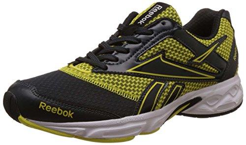 Reebok Men's Cruise Runner Lp Grey, Yellow,White And Black Running Shoes - 7 UK