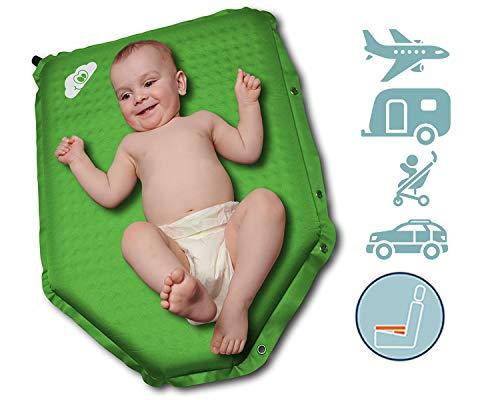Weekee Wickelunterlage für unterwegs, vielseitige mobile Wickelunterlage abwaschbar, Wickelset inkl. Wickeltasche für Reisen, bequemes Windelwechseln unterwegs, auf Reisen und im Auto (grün)