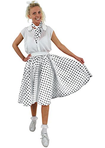ILOVEFANCYDRESS I Love Fancy Dress ilfd4519ps Damen Kostüme mit lang Polka Dot Rock (Plus Größe)