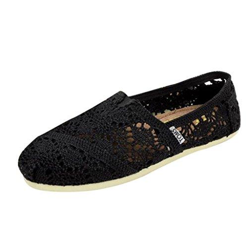 Minetom Donne Scarpe Basse Pizzo Ballerine Fiore Stampato Slip On Pompe  Comode Scarpe Casual Scarpe da Guida ...