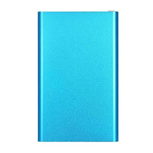 Wingeri Mobile Energie Ultradünnes tragbares Power Bank 4000 Mah-Notladegerät Übernehmen (Color : Blau)