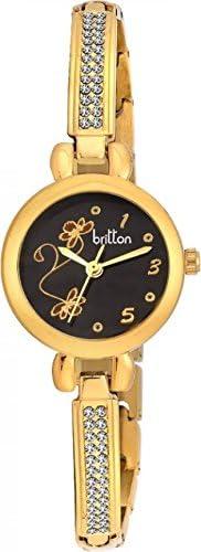 Britton Analog Black Dial Women's Watch - BR-LR011-BLK