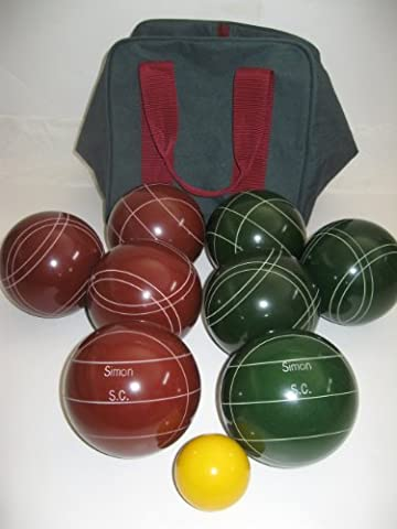 Premium Quality Engraved EPCO Bocce package - 107mm EPCO Red and Green balls ...