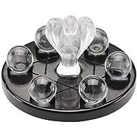 JOVIVI Fengshui Deko Set Edelstein Schutzengel + 6 Stück Steinkugeln + Obsidian Basis Chakra Energietherapie Yoga... preisvergleich bei billige-tabletten.eu