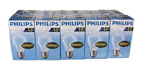 Philips Glühlampe Birnenform, 100 Watt, E27, Transparent, 10er -