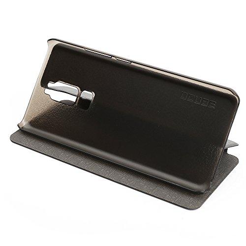 Leagoo S8 Case Hülle 2 in 1 Flip Hülle Handysocken Schutzhülle Standfunktion Tasche & - Beschützer Smartphone (Schwarz)