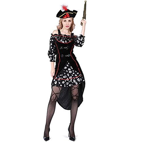 Piraten Holloween Kostüm - Tik Halloween Kostüm/Geburtstagsparty Cosplay Outfit - Gruseliges Piraten Halloween Kostüm für Herren,3
