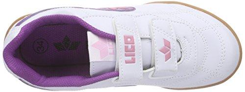 Lico Bernie V, Scarpe Sportive Indoor Unisex – Bambini Bianco (Weiss/lila/rosa)