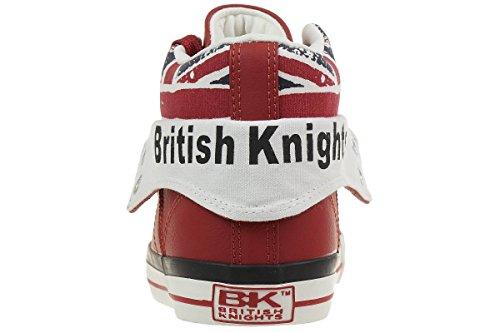 British Knights Roco Unisex-Kinder Basketball hoch ROUGE/UNION JACK