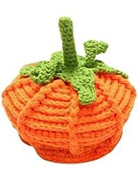 BYSTE Halloween Costume Bambina Tessitura Cappello di Zucca Berretto con  Visiera per Bambino e Bambina Neonato alla efdc82063972