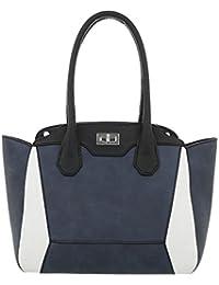 c3b0b7fb49659 Ital-Design Damentasche Mittelgroße Handtasche Mit Schulterriemen Kunstleder  TA-A235