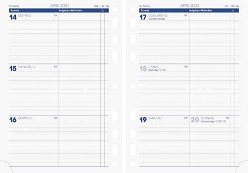 Brunnen 107910020, Wochenkalendarium, Zeitplansysteme, 2020, 2 Seiten = 1 Woche, Blattgröße 14, 8 x 20, 8 cm, A5