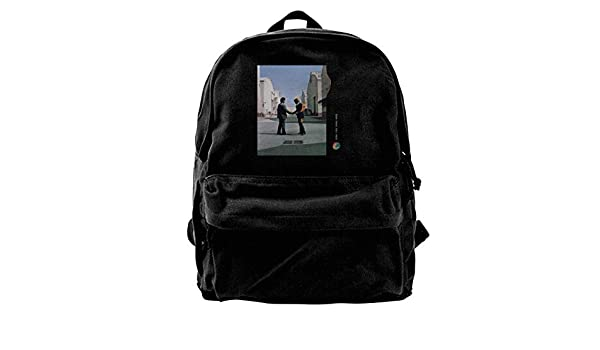 db5e8b57bfed Pink Floyd Wish You were Here College Bookbag Fits 14 inch Laptop Canvas  Travel Back Bag for Unisex Woman s Men Black  Amazon.co.uk  Luggage