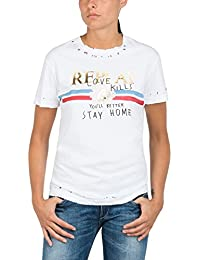 Replay Women's Cotton Jersey Women's T-Shirt In White 100% Cotton