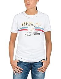 Replay Women's Cotton Jersey Women's T-Shirt In White 100% Cotton