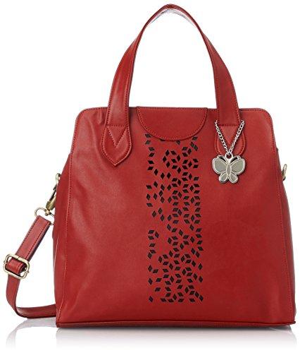 Butterflies Women's Handbag (Red) (BNS 0320)