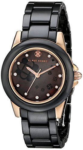 Klaus Kobec Women's KK-10008-04 Vesta Analog Display Japanese Quartz Black Watch