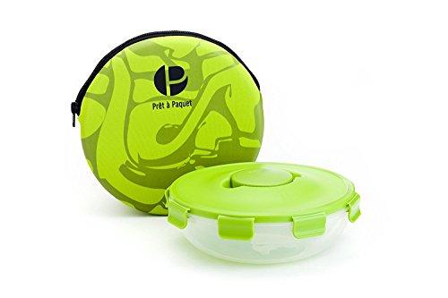 Stylischer auslaufsicheres Salat schüssel - Die ideale Größe für Unterwegs - 100% Mikrowellen und Spülmaschinen fest - gesundes Essen zum Mitnehmen - einfach & schnell zu reinigen und zu trocknen.
