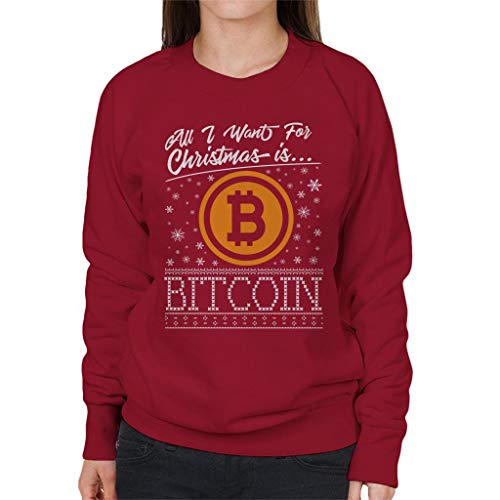 Coto7 All I Want For Christmas Is Bitcoin Women's Sweatshirt