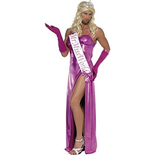 Mr Miss World Kostüm Herren Kleid M 48/50 Travestie Outfit Schönheitskönig Junggesellenabschied JGA Verkleidung (Miss World Kostüm)