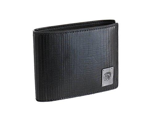 Diesel portafoglio in pelle neela s di colore nero