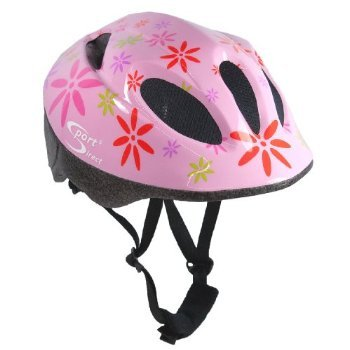 Sport DirectTM Pink FlowerTM Children's Girls Helmet Pink 48-52cm by Sport Direct