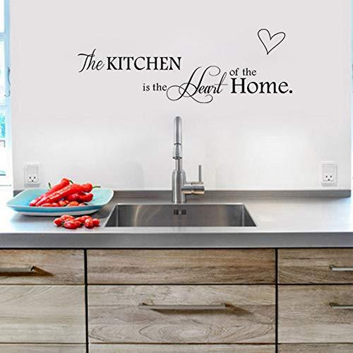 Yzybz Küche Ist Das Herzstück Des Hauses Küche Dekoration Zitate Wandtattoo Aufkleber Poster Wandbild (Diy Herzstück Halloween)