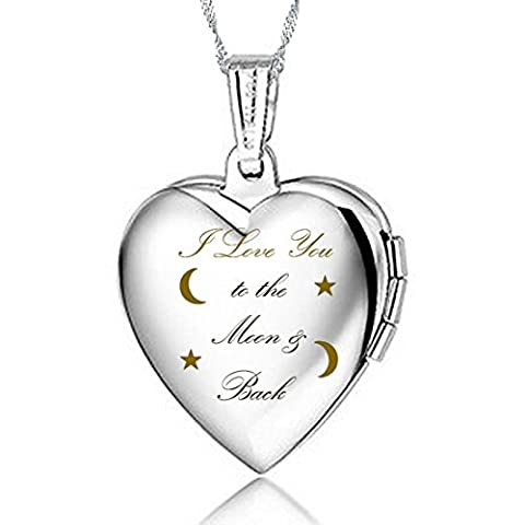 IXIQI Jewelry Silver Plated Locket Engraved with