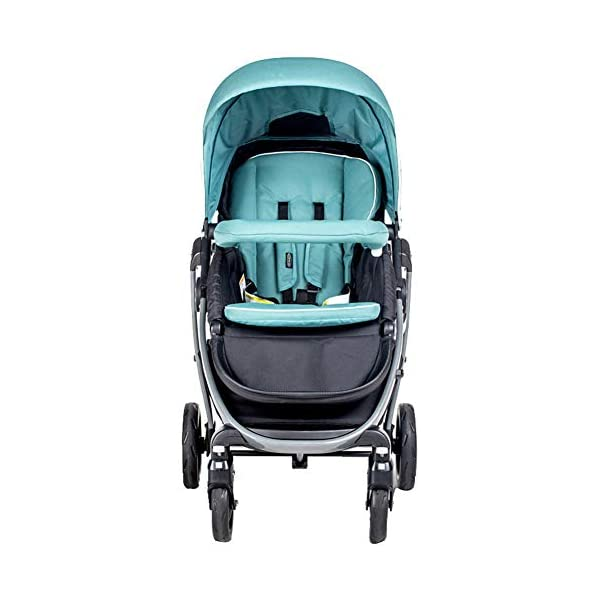XUE Baby Stroller, Spacious High Landscape Trolley Shock Absorber Can Sit Reclining With Basket Travel System With Embrace XUE ∵ Wipeable and washable design for easier cleaning. ∵ Convertible high chair becomes booster and toddler seat. ∵ Keeps little ones secure with 3-point and 5-point harnesses. 1