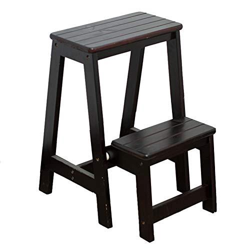 Klappbare Trittleiter aus Holz für Erwachsene und Kinder, 2-stufige Hausschuhbank/Blumenständer (Farbe : Style 2)