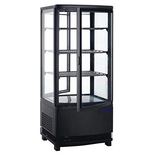 Vitrina Expositor refrigerado negro 86 Litros